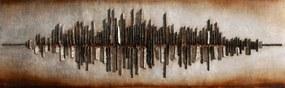 3D tablou pe pânză - Metropola, 56x180 cm