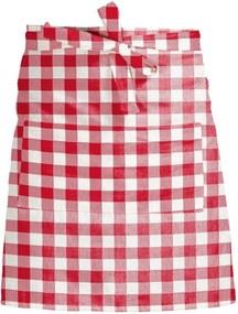 Șorț textil Linen Couture Delantal de Lino Red Vichy