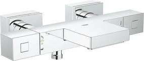 Baterie cada cu termostat Grohe Cube, montare aparenta, diverter, protectie reflux, waterfall, Crom