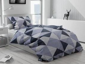 Lenjerie de pat din bumbac Morocan albastra