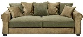 Canapea Fixa Aura, Cu Lada, Olive, 215 x 95 x 115 cm