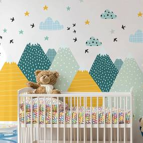 Autocolant Ambiance Giant Kid Sticker Scandinavian Mountains Ziska