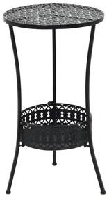 245939 vidaXL Masă de bistro, negru, 40 x 70 cm, metal
