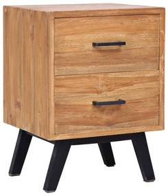 285310 vidaXL Noptieră, 40 x 35 x 55 cm, lemn masiv de tec