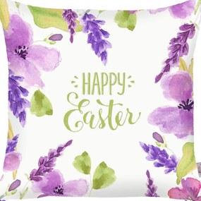 Față de pernă Apolena Happy Easter Flowers, 43 x 43 cm