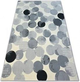 Covor Scandi 18461/752 - rotund crem gri negru 120x170 cm