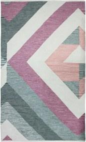 Covor multicolor Tiraine, bumbac, tesut manual, 160 x 230 cm