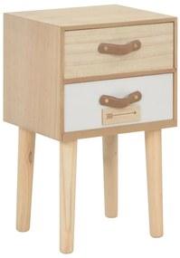 247388 vidaXL Noptieră cu 2 sertare, 30x25x49,5 cm, lemn masiv de pin