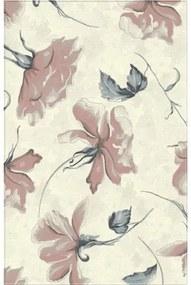 Covor sintetic Matrix model floral bej/roz 80x150 cm