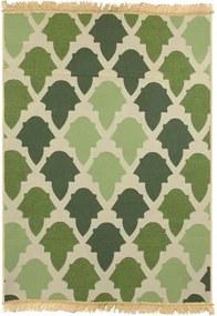 Covor Floorist Baklava Green, 80 x 150 cm, verde