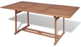 43034 vidaXL Masă de grădină, 180 x 90 x 75 cm, lemn masiv de tec