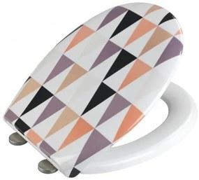 Capac toaleta din duroplast, Pyramide Multicolor, l37xA44,5 cm