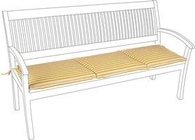 Perna bancuta 3 locuri din textil galben Nat 153 cm x 48 cm x 4 h