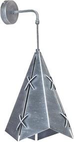Aplica perete CONALL 1xE27/60W patina argintiu