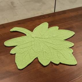 Napron Green leaf din bumbac si in 40x44 cm