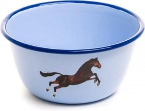 Bol albastru din email ø17 cm Horse Toiletpaper Seletti