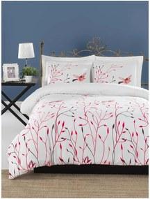 Lenjerie de pat din bumbac ranforce pentru pat de 1 persoană Mijolnir Fidella Pink, 140 x 200 cm
