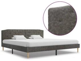 280556 vidaXL Cadru pat, gri închis, 180 x 200 cm, material textil