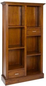 Biblioteca maro din lemn mindi 180 cm Kumala Santiago Pons