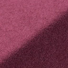 Cearșaf cu elastic frotir EXCLUSIVE de culoarea bordo pat simplu