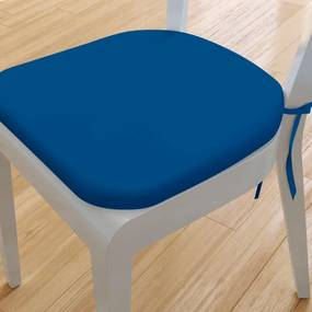 Goldea pernă pentru scaun rotundă din bumbac 39x37cm - albastru regal 39 x 37 cm