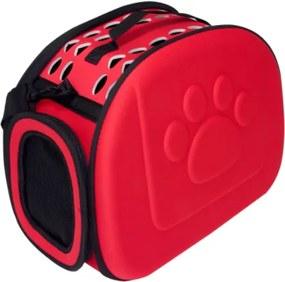 Geantă transport pentru animale 43x28x32cm RED