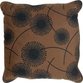 Perna decorativa patrata maro/neagra din poliester 50x50 cm Rocco Woood