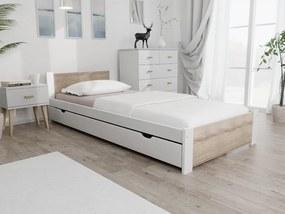 Maxi Drew Pat Ikaros, alb 90x200 cm Lamele: Fără lamele, Saltele: Cu saltele Coco Maxi 23 cm