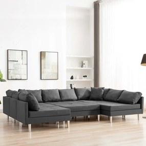 287205 vidaXL Canapea modulară, gri închis, material textil