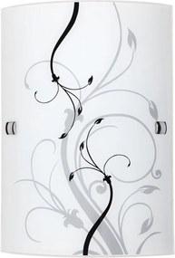 Rábalux Elina 3691 Aplice perete alb negru E27 1x MAX 60W 180 x 260 mm