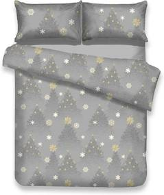 Lenjerie de pat din flanel cu motive de Crăciun pentru pat de o persoană AmeliaHome Silentnight, 135 x 200 cm