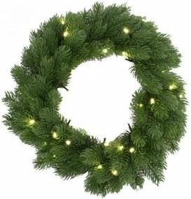 Coroană LED de crăciun cu timer 48xLED/3xAAA