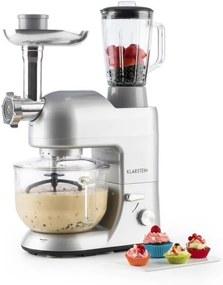 Klarstein Lucia Argentea 2G, robot de bucătărie, mixer, tocător de carne, 1200W, BPA-Free
