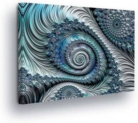 GLIX Tablou - Abstract Swirl in Blue Tones 25x35 cm