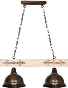 Plafonieră cu detalii din lemn Glimte Albero I Dos