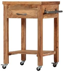282752 vidaXL Cărucior de bucătărie, 58 x 58 x 89 cm, lemn masiv de acacia