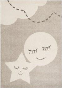 Covor crem pentru copii 170x120 cm Star and Moon Zala Living
