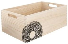 Lădiță din lemn Orion Mandala, 26,5 x 16,5 x 11 cm