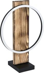 Veioza EGLO BOYAL 99457, LED 1X12W 1700lm 3000K IP20, Otel Negru, Textil Maro rustic