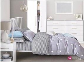 Lenjerie de pat reversibilă din bumbac pentru pat dublu DecoKing Diamond Laura, 200 x 220 cm