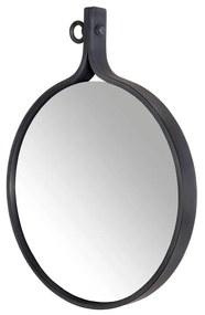 Oglinda rotunda rama metalica neagra Attractif Ø40cm