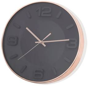 Ceas de perete Brandani Rose Gold, negru