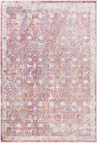 Covor din Viscoza Yuma, Multicolor Roz - 160x230 cm