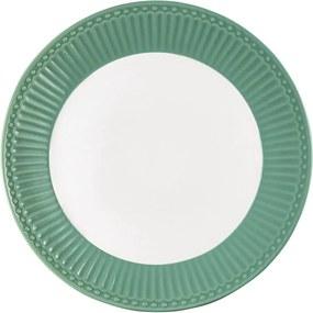 Farfurie din ceramică Green Gate Alice, ø 23 cm, verde închis