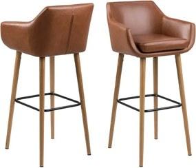 Set 2 scaune pentru bar Actona Nora, maro