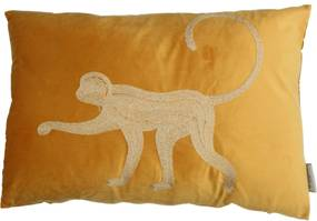 Set 6 perne din catifea Monkey 40x60 cm galbene