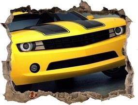 Fototapet 3D gaură în perete Mașină sport