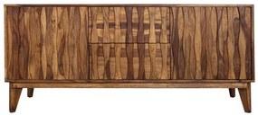 Bufet inferior maro din lemn 160 cm Retro Invicta Interior