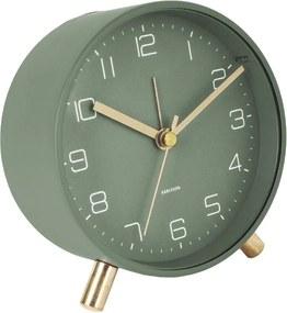 Ceas cu alarmă Karlsson Lofty, ø 11 cm, verde