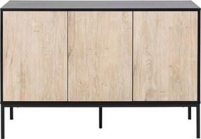 Comodă în decor de stejar sălbatic Actona Seaford, 120 x 82 cm